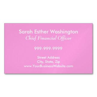 Cartão De Visitas Magnético Cor P15 cor-de-rosa