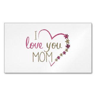 Cartão De Visitas Magnético Coração do dia das mães da mamã do amor