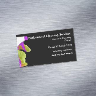 Cartão De Visitas Magnético Design magnético do serviço profissional da