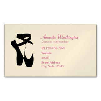 Cartão De Visitas Magnético En preto Pointe dos calçados de balé
