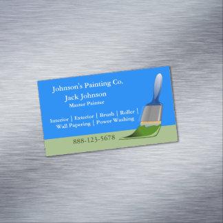 Cartão De Visitas Magnético Escova de pintura da pintura do pintor