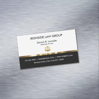 Cartão De Visitas Magnético Escritório de advogados elegante do advogado