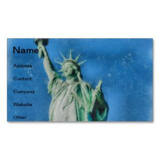 Cartão De Visitas Magnético Estátua da liberdade, pintura das aguarelas de New