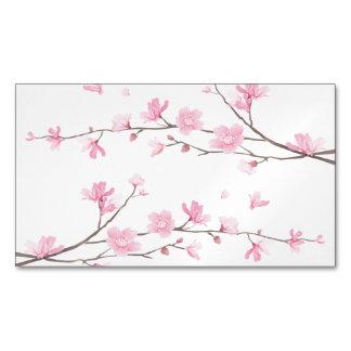 Cartão De Visitas Magnético Flor de cerejeira - fundo transparente