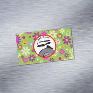 Cartão De Visitas Magnético Flores de jardinagem e sonhos