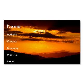 Cartão De Visitas Magnético Foto bonita do por do sol