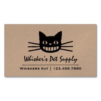 Cartão De Visitas Magnético Gato de sorriso com suiças longas