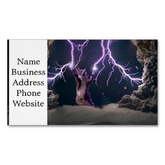 Cartão De Visitas Magnético Gato do relâmpago--gato do gatinho-animal de
