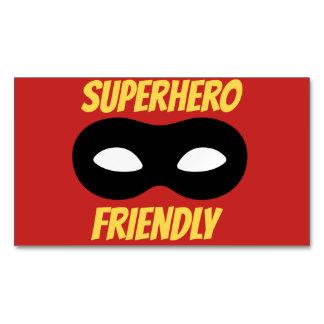 Cartão De Visitas Magnético Ímã amigável do super-herói vermelho
