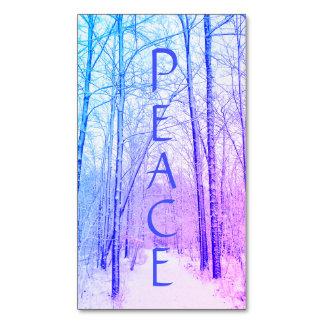Cartão De Visitas Magnético Ímã da paz da floresta do inverno