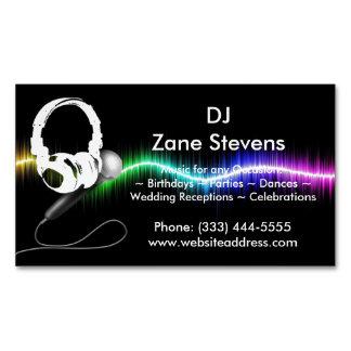 Cartão De Visitas Magnético Ímã do cartão de visita dos fones de ouvido do