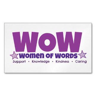 Cartão De Visitas Magnético Ímã do wow
