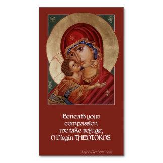 Cartão De Visitas Magnético Ímãs abençoados 25pk da oração de Theotokos da