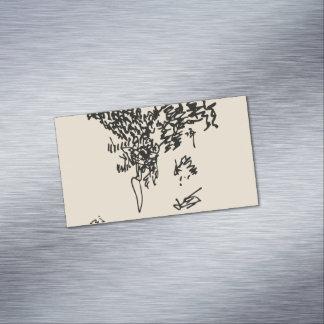 Cartão De Visitas Magnético Jacque em maio