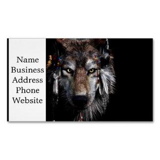 Cartão De Visitas Magnético Lobo indiano - lobo cinzento