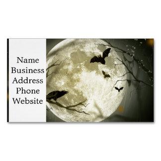 Cartão De Visitas Magnético Lua do Dia das Bruxas - ilustração da Lua cheia