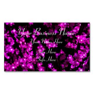 Cartão De Visitas Magnético Luzes cor-de-rosa de incandescência da flor