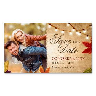 Cartão De Visitas Magnético Mini casamento rústico do imã salve o dia barato |