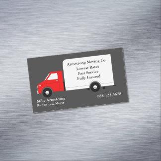 Cartão De Visitas Magnético Motor movente do caminhão da empresa de mudanças