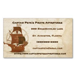 Cartão De Visitas Magnético Navio do mistério do pirata