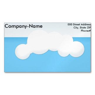 Cartão De Visitas Magnético Nuvem