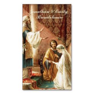 Cartão De Visitas Magnético O casamento católico do noivo da noiva favorece