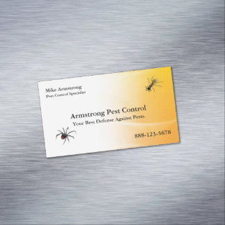 Cartão De Visitas Magnético O Exterminator do controlo de pragas desinseta