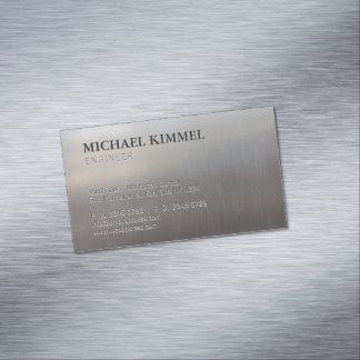 Cartão De Visitas Magnético Olhar escovado moderno do metal customizável