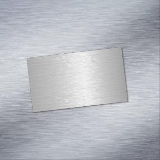 Cartão De Visitas Magnético Olhar metálico de prata