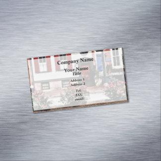 Cartão De Visitas Magnético PA de Harrisburg - Rosas na rua do estado