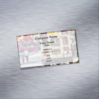 Cartão De Visitas Magnético Para trás do auto escolar