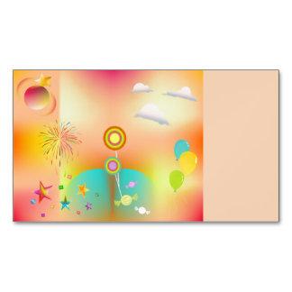 Cartão De Visitas Magnético partido e cores
