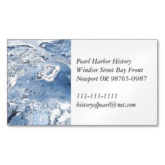 Cartão De Visitas Magnético Pearl Harbor aéreo em direção ao sul da vista