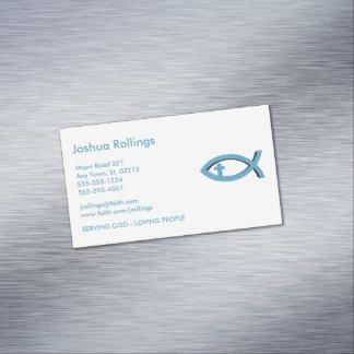 Cartão De Visitas Magnético Peixes cristãos