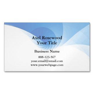 Cartão De Visitas Magnético Redemoinho azul moderno legal com branco