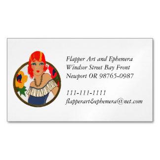Cartão De Visitas Magnético Redhead retro do cartão do registro