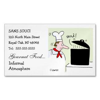 Cartão De Visitas Magnético Restauração engraçada bonito do restaurante dos
