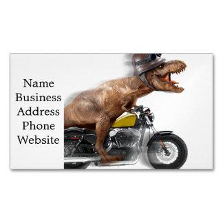 Cartão De Visitas Magnético Rex dos motocicleta-tiranossauros-t do rex de T -