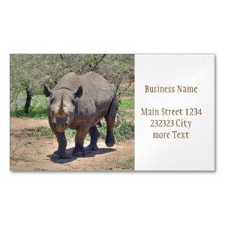 Cartão De Visitas Magnético rinoceronte