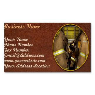Cartão De Visitas Magnético Sapador-bombeiro - engrenagem do depósito