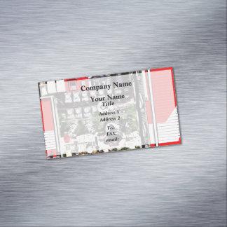 Cartão De Visitas Magnético Seletores e mangueiras no carro de bombeiros