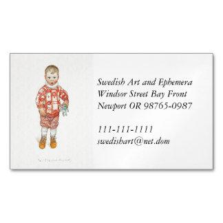 Cartão De Visitas Magnético Sven com cavalo e formão de Dala