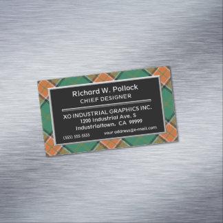 Cartão De Visitas Magnético Tartan escocês do Pollock do clã do acento