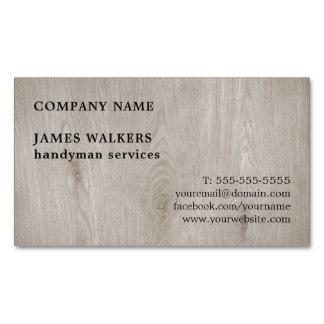 Cartão De Visitas Magnético Trabalhador manual de madeira simples profissional