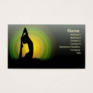 Cartão De Visitas Malhação da ioga