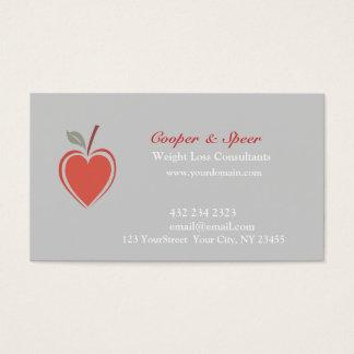 Cartão De Visitas Malhação mínima vermelha saudável do bem-estar do