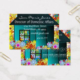 Cartão De Visitas Mamã dos bens imobiliários ou da estada em casa