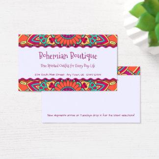 Cartão De Visitas Mandala boémia brilhante do divertimento