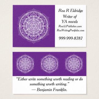 Cartão De Visitas Mandala da beringela