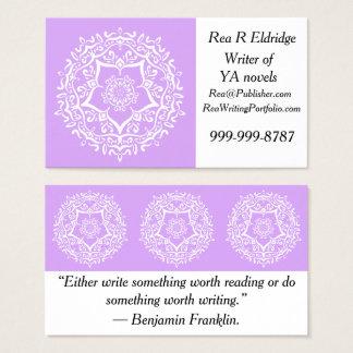 Cartão De Visitas Mandala da lavanda